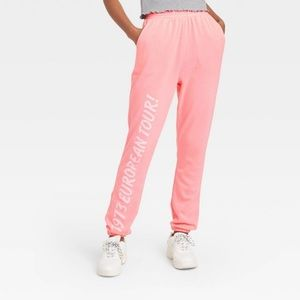 NWT Women's The Rolling Stones Lips Jogger Pants
